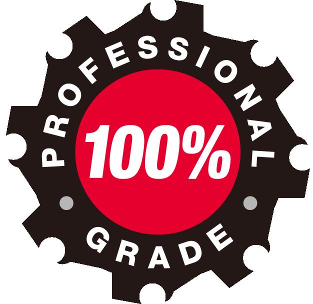100% Professional Grade