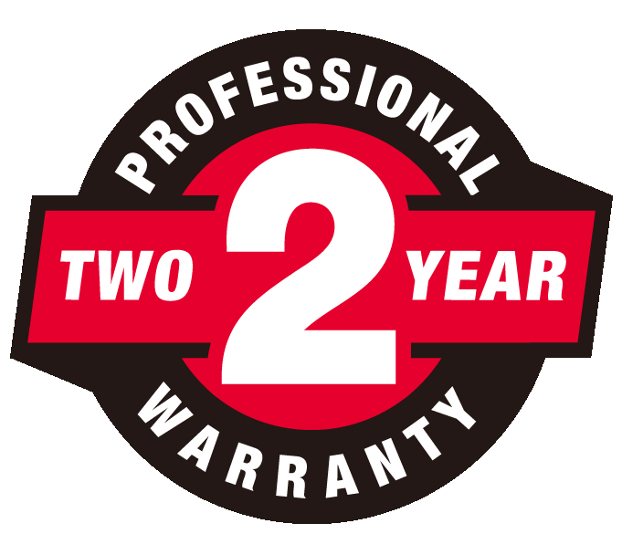 2 Year Professional Warranty