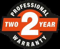 2 Year Professional Warranty