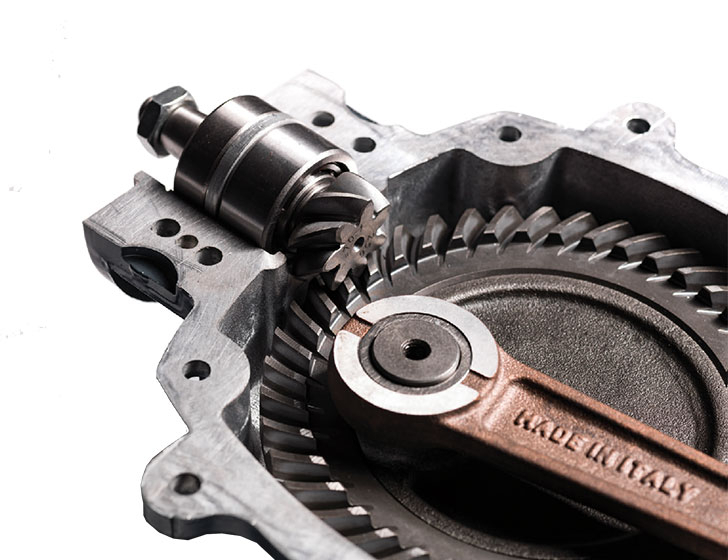Large helican gears.